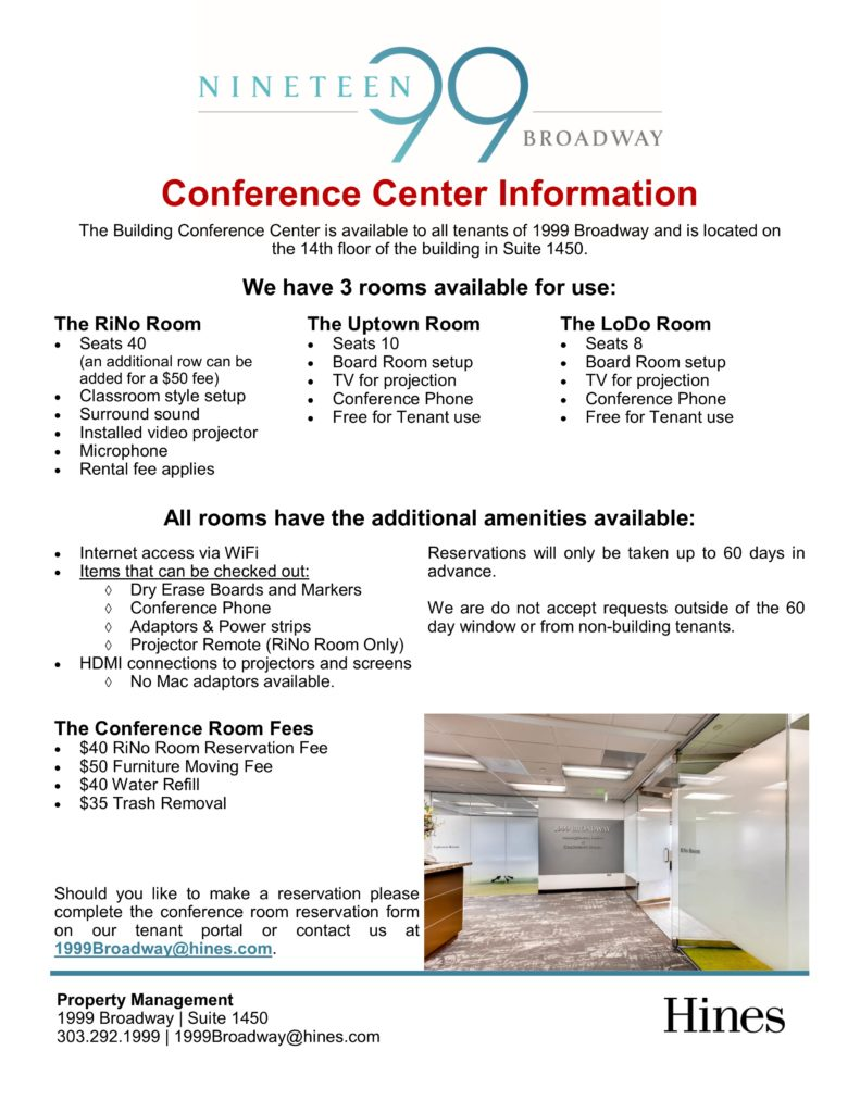 Conference Center Information
